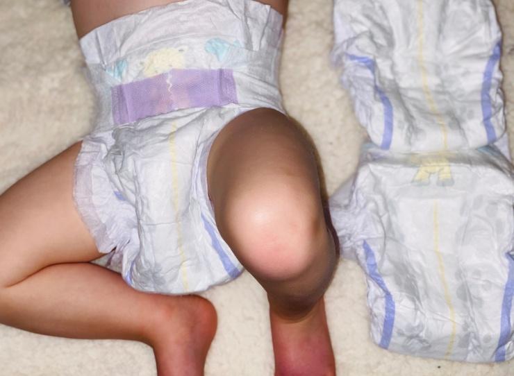 Mamia Aldi nappies baby
