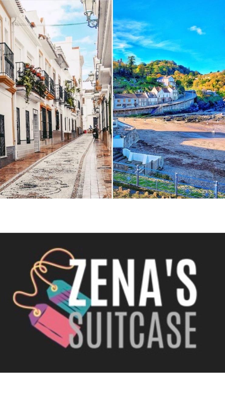 Zenas Suitcase travel blogger